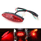 Red 15 LED Motorcycle ATV Bike Brake Stop Tail Light Rear Lamp 12V Universal AP