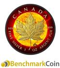 2015 Canadian Maple Solar Flare 1 oz 5 Fine Silver Coin Ruthenium + 24K Gold
