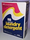 VINTAGE LAUNDRY DETERGENT BOX SEARS 1984 HUGE CARTON 48lb BIG SIZE
