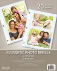 Pinnacle Magnetic Photo Album 10 Pack 8x10 Photos Up Sheets 9x11 Refill Pages