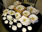 Vintage Cotillion Yellow Rose & Bud Dinnerware China By Sango Japan 109 Pcs NEW