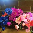6 PC Jumbo Artificial Butterfly Silk Orchid Flowers Party Home Decor 11 Color