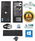 Dell Computer Tower Desktop Windows 10 HP 4GB Ram 160GB HD Core 2 Quad 266Ghz