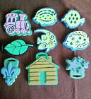 Lot Of 9 Foam Chunky Stamps Variety Mix Fish train stars leaf cabin fleur