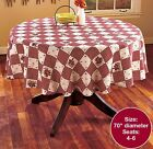 Country Hearts  Stars Tablecloth 70 Round NEW