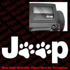 Jeep Wrangler Cat Dog Paw Print Feet Vinyl Carbumper Window Decal Sticker Jw001