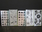 5 INKADINKADO CLEAR STAMPS Sentiments BDay Thanks Friends Halloween Holidays