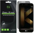 2 Pack Dmax Armor Privacy Anti Spy Screen Protector for LG K20 Plus