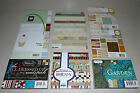 Scrapbook Paper Pad Lot DCWV Bo Bunny Basic Grey We R Memory Keepers