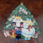 Fitz & Floyd Christmas Tree Santa Candy Lane Canape Candy Dish Plate