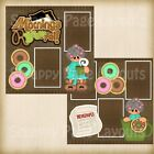 Premade Scrapbooking 2 Page Layouts MORNINGS R BREWTAL coffee newspaper donuts