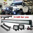 52inch 700W Led Light Bar+418W+Mount Bracket For Jeep Wrangler TJ 1997 2006