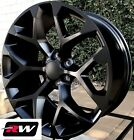 20 inch Chevy Silverado 1500 Snowflake OE Replica Wheels 20x9 Rims Satin Black