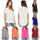 Plus Size Womens Summer Holiday V Neck Tops T shirts Casual Loose Tunic Blouses