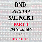 DND Daisy Regular Nail Polish Lacquer 5 fl oz Choose your colors PART 1