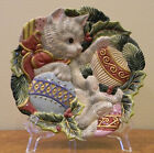 Fitz and Floyd Kristmas Kitty Canapé Plate Christmas in Original Box