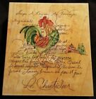 Le Chanticleer Rubber Mounted Stamp Stamps Happen Inc Rooster Mildred Wyatt