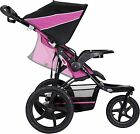 NEW! Baby Trend XCEL Jogging Stroller, Raspberry, BABY CUP HOLDER STORAGE BASKET