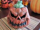 Halloween Sinister Pumpkin with Evil Eerie Mister Fogger Creepy Color Changing