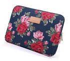 Kayond Peony Patterns Canvas Ultraportable Water resistant 13 Inch for Laptop