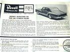 Vintage Original  Issue Instruction Sheet for Revell  1962 PLYMOUTH VALIANT