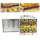 10 Tray Stainless Steel Commercial Dehydrator Food Fruit Jerky Dryer Tray Blower