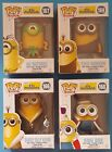 Lot of 4 Funko POP Minions Vinyl Figures Bored Silly Kevin 166 Au Naturel 167 ++