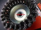 4''/100MM 1PC HEAVY DUTY KNOTTED WIRE CUP BRUSH WHEEL VALLEY 5/8''THREADED ARBOR