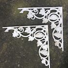 Pair Cast Iron Corbel Antique Victorian Shelf Spandrel  Architectural Salvage
