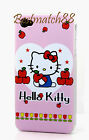 FOR IPHONE 4 4S cute hello kitty PINK RED WHITE HARD CASE HEART+ SCREEN film