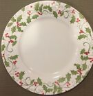 HTF!! Dinnerware Corelle Evergreen Rose Christmas Plates by Corning Holly Ivy