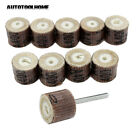 10pc 400Grit Flap Wheel Sander Disc Replacement w/3mm Mandrel for Rotary Tool