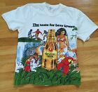 Vintage 80s Brahma Beer Brazil All Over Print Tee T Shirt Small Alcohol