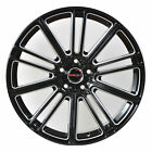 4 GWG Wheels 18 inch Black Laser Mill FLOW Rims fits NISSAN ALTIMA COUPE 2008 09