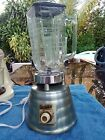 VINTAGE OSTERIZER BLENDER DELUXE BEEHIVE MODEL GREEN METALIC 2 SPEED