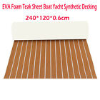 Brown Self Adhesive EVA Foam Teak Sheet Boat Yacht Synthetic Decking 47 X 95