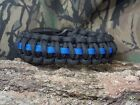 Thin Blue Line Police Officer 550 Paracord Survival Bracelet