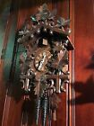 Large Vintage German Black Forest Finely Carved Cuckoo Clock Suburban Berea Ohio