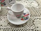 Fiesta White SUNPORCH Demitasse Coffee Cup & Saucer ~ LTD 500 ~ NIB DEMI STOCK