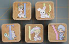 PRECIOUS MOMENTS MONOGRAM LETTER INITIALS  DESIGN RUBBER STAMPS YOUR PICK