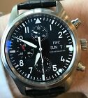 IWC Pilot Chronograph Black Dial Automatic Day Date IW3717 -Fantastic Preowned