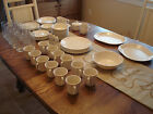 Corning Corelle English Breakfast 88 piece Set of Dishes and Glasses - Very Good