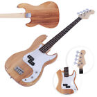 New 4-String Electric Bass Guitar Burning Fire Style Yellow
