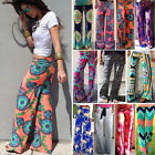 US Women Harem Long Pants Hippie Wide Leg Gypsy Yoga Dance Boho Palazzo Trousers