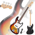 Glarry Full Size Electric Jazz Bass Guitar + Cord + Tool Sunset