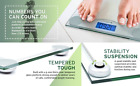 Digital LCD Glass Bathroom Body Scale Weight Watchers Fitness Scales 400lb 180kg