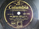 Fred Rich  Orch COLUMBIA CB 194 Sing Something Simple