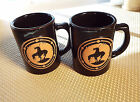 Frankoma Pottery Two End Of The Trail American Indian Warrior Mug Cup Black Terr