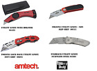 "Amtech 6"" Lock Back Utility Knife Folding Holder - NO stanley blades supplied"