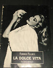 FEDERICO FELLINI LA DOLCE VITA ORIGVINTAGE 1960 MOVIE PROGRAM CLASSIC